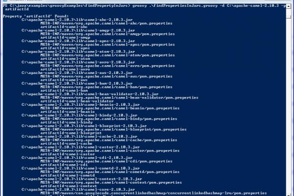 outputGroovyScriptFindsPropertiesInJars 600x400 - دستور break در جاوا اسکریپت