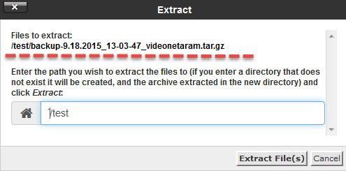 استخراج فایل های full backup سی پنل