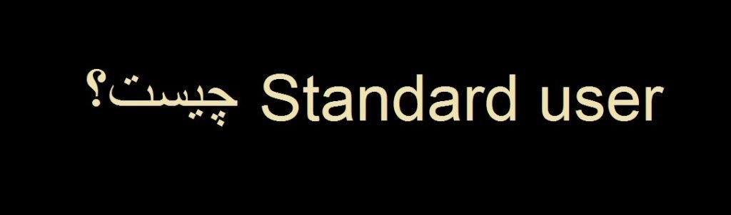 Standard user چیست؟