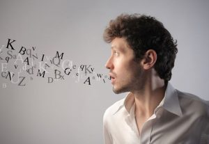 10171752 s 1 300x207 - 10171752 - young man talking with alphabet letters coming out of his mouth
