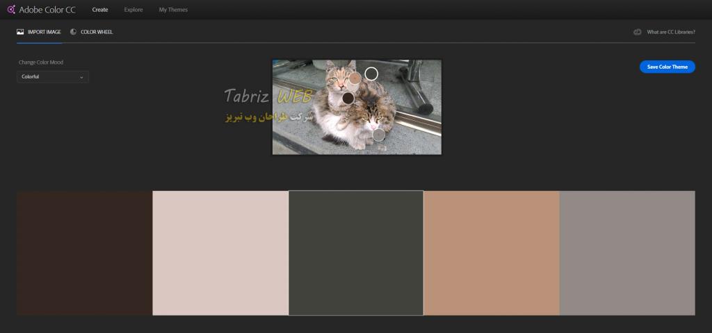 نمونه ارائه رنگ از طریق تصویر آدوبی