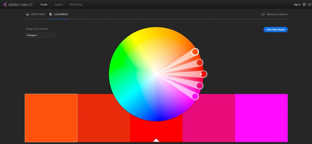 ابزار ادوب برای انتخاب رنگ | روانشناسی رنگ و اهمیت آن در طراحی - مرکز طراحی سایت در تبریز | 04135595289