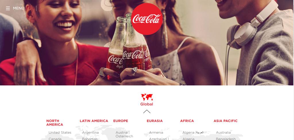 وب سایت کوکاکولا | روانشناسی رنگ و اهمیت آن در طراحی - مرکز طراحی سایت در تبریز | 04135595289