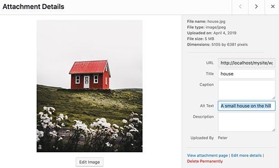 medialibraryedit - بهینه سازی تصاویر سایت برای موتورهای جستجو