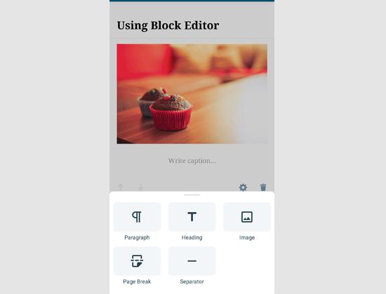 editingwithblockeditor - نحوه ی استفاده از برنامه وردپرس بر روی iPhone ،iPad و Android