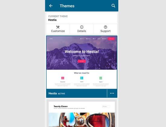 themes wp app - نحوه ی استفاده از برنامه وردپرس بر روی iPhone ،iPad و Android