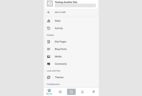 wp app dashboard - نحوه ی استفاده از برنامه وردپرس بر روی iPhone ،iPad و Android